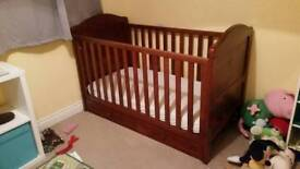 Cot bed with accessories