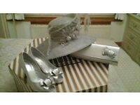 Mother of the bride Hat, handbag and shoes