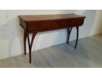 Vintage Retro Solid Teak Console Table