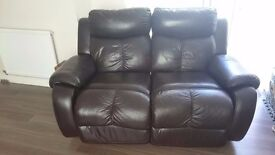 Electric reclining two seater