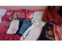 Girls bundle clothing for 4-5y