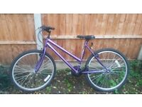 purple woman's mountain bike 18GR EXCELLENT CONDITION