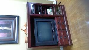 Solid Cherry Entertainment Unit with TV