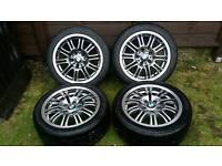 Bmw 17 inch Alloy Wheels Good Tyres