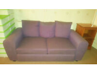 Argos HOME collection purple lilac fabric 2 seater bed settee sofa bed comfortable £399.99