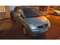 1.8 Vauxhall Mervia. 6 months MOT. 86000miles. Alloy wheels. Ok condition. £850 o.v.n.o