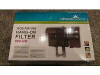 NEW Aquarium FILTER (hang-on) 600L per hour