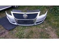 Volkswagen passat front bumper silver 2005/2010