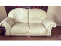 2 Seater Cream Leather Sofa Needs to be gone today!