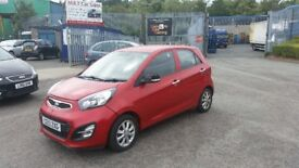 2013 (13 reg) KIA Picanto 1.0 2 5dr Hatchback For Sale £1,995 SOLD WITH 12 MONTHS MOT
