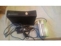 Xbox 360 250gb with 6 games no controller