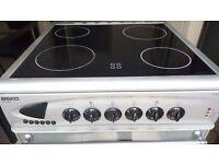 beko 60 cm Freestanding - Energy Efficiency: B - Electric - 2 Ovens - Fan Heating -