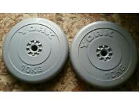 6 10kg weights plates