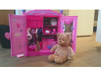 Build A Bear Bundle - Bear, clothing & wardrobe - perfect for christmas and starter set