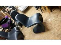 Hardened plastic modern stacking chairs