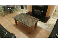 Table with a Granit top lovely table