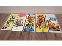 collection of old antique vintage movie posters 40s 50s 60s original