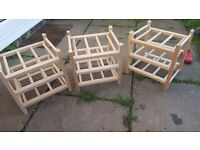 3 IKEA wooden wine racks. Stackable. Excellent contition