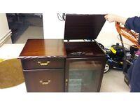 mahogany record player unit