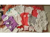 0-3 months old Onesies(bundle),socks,cap and bips