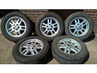 "5 Range Rover Alloys with vgood tyres 255/60 R 18"""