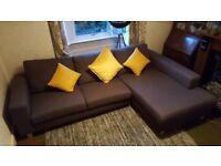 Grey Sofa - L shaped settee Debenhams