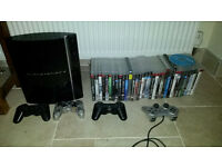 ps3 with 33 games and 4 controllers