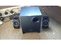 pc speakers and sub woofer