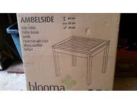 Wooden garden side table