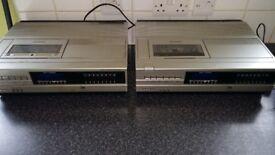 2x sanyo beta video recorders