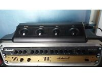 Marshall 9000 Valve pre-amp and Valvestate 8008 power amp rack rig