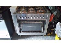 Indesit 5 burner range cooker