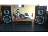 Vintage Rare Rotel RX-402 Amplifier & Akai SR-H30 Speakers Full Working Order £110 OVNO