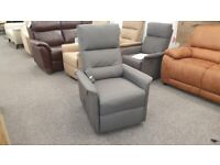 CareCo Milano Charcoal Riser Recliner Chair (Single Motor) Can Deliver
