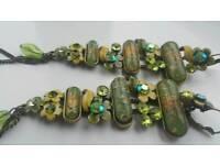 Long dangling earings (gems n stones)