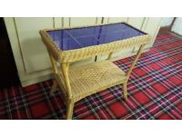 Wicker Tiled Top Table