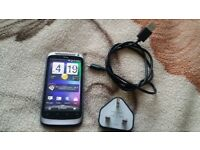 "UNLOCKED, Silver HTC Desire S with Wall Plug and USB Charger, Simple Android Smartphone, 3.7"" Screen"