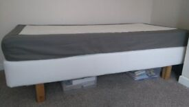 Single bed from Ikea with mattress