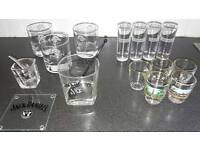 Whisky tumblers and shot glasses