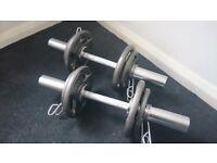 Cast iron Olympic Dumbell Set
