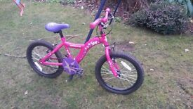 Girls Pink/Purple Apollo Star Bike. 16""