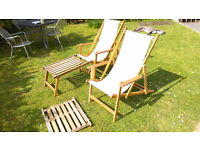 Habitat Garden Lounger Chairs with Footrests x2