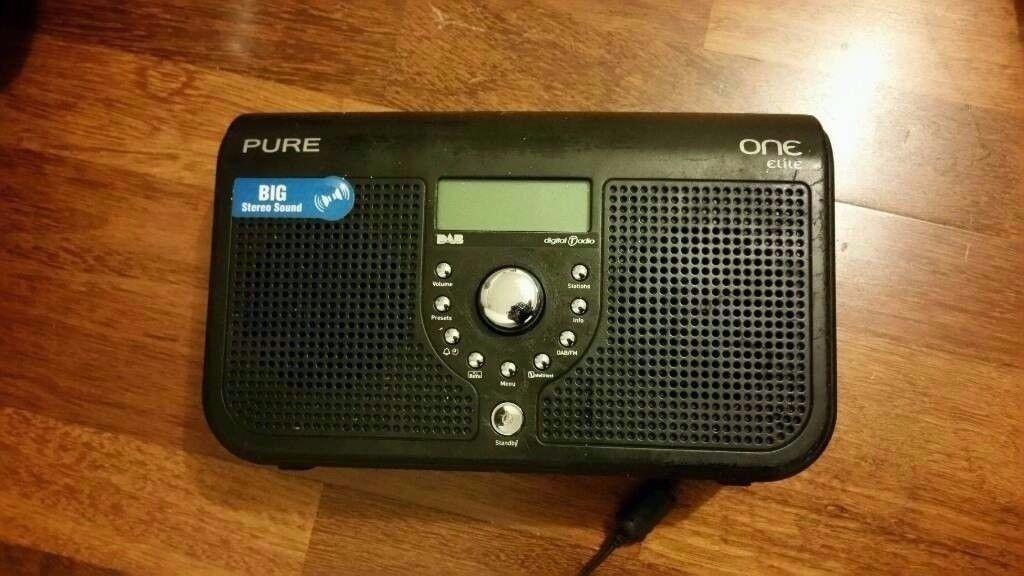 PURE ONE Elite Portable Stereo DAB/FM Radio - Black
