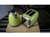 GREEN PRESTIGE KETTLE AND TOASTER