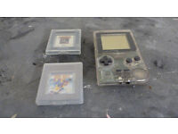 Game Boy Pocket with 2 games and a case