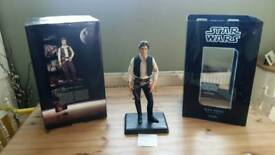 Rare star wars sideshow collectibles premium format edition sideshow Han solo Statue