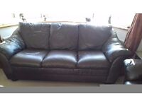 Leather 2 and 3 seater sofas