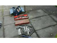 Lot of socket sets,spanners,tool box,wrenches,pliers good lot