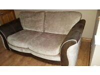 Modern brown two or three ( 2 or 3) seater sofa settee Must sell tonight