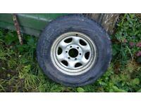 Isuzu Bighorn Spare wheel and Tyre. 245/70 r16